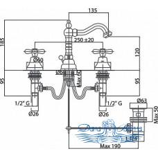 Смеситель Caprigo Bristol 21-022-crm для раковины