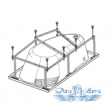 Каркас для ванны Eurolux Спарта 160х100 L/R