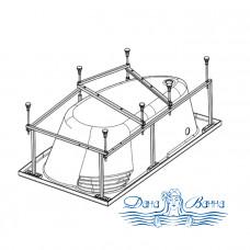 Каркас для ванны Eurolux Вавилон 170х118 L/R