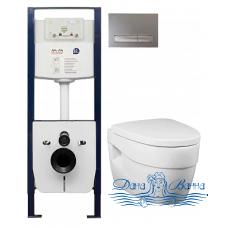 Комплект Am.Pm Bliss L инсталляция I012702 + кнопка I014131 + унитаз C531738SC + крышка C537852WH