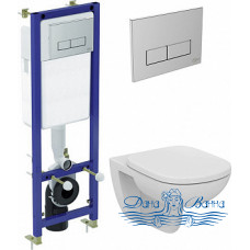 Комплект Ideal Standard Tempo W990101 унитаз + инсталляция с кнопкой смыва