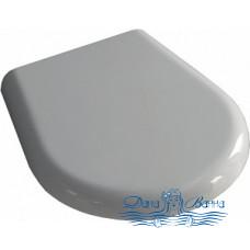Крышка-сиденье Kerasan K 09 368801 белая, с микролифтом, петли хром