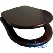 Крышка-сиденье Kerasan Retro 108740 с микролифтом, петли золото