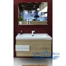 Комплект мебели Orans BC 100 (ВС-2023D-1000) (дуб\белый глянец)
