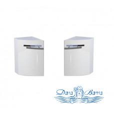 Шкаф Aquanet Римини полукруглый белый