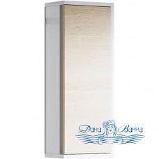 Шкаф подвесной Aqwella Miami 25 (дуб сонома/белый глянец)