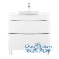 Тумба для ванной Am.Pm Like (M80-FSX0802-WC0802) (белый, глянец) (80 см) (с раковиной)