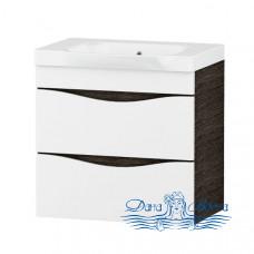 Тумба для ванной Am.Pm Like (белый, венге) (65 см) (подвесной)