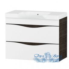 Тумба для ванной Am.Pm Like (белый, венге) (80 см) (подвесной)