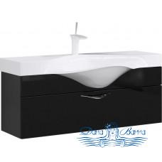 Тумба для ванной Aqwella Бродвей 110 (черный)