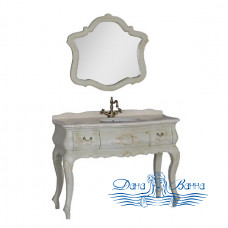 Тумба для ванной Demax Флоренция 120 (белый перламутр)