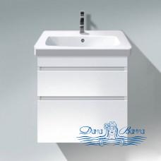 Тумба для ванной Duravit DuraStyle (DS648002222) (65 см) белый глянцевый с раковиной