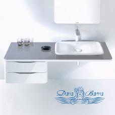 Тумба для ванной Duravit PuraVida (PV071С) (130 см) поверхность аллюминий кромка белая