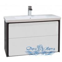 Тумба для ванной Roca Ronda (ZRU9302964) (70 см) белый глянец/антрацит и раковина