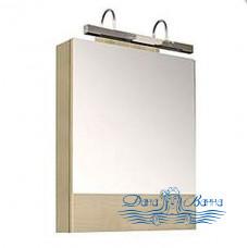 Зеркальный шкаф Aquanet Нота 58 светлый дуб (без светильника)