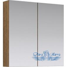 Зеркальный шкаф Aqwella МС (70 см) (дуб сонома)
