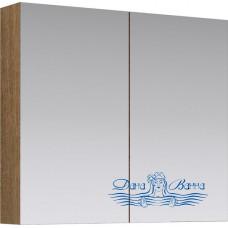 Зеркальный шкаф Aqwella МС (80 см) (дуб сонома)