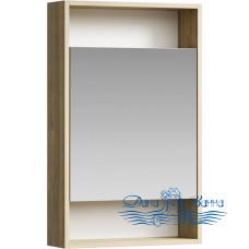 Зеркальный шкаф Aqwella Сити 50 дуб балтийский