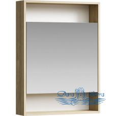Зеркальный шкаф Aqwella Сити 60 дуб балтийский