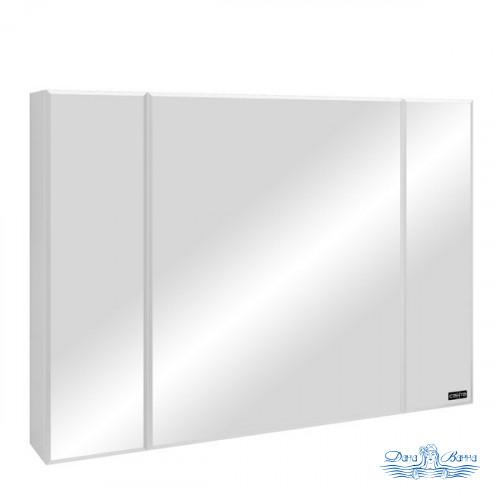 Зеркальный шкаф СанТа Стандарт (120 см) (белый)