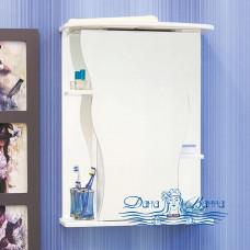 Зеркальный шкаф Sanflor Илона 55 L (белый)