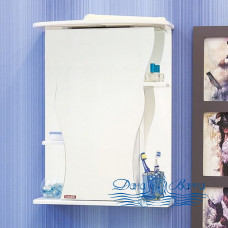 Зеркальный шкаф Sanflor Илона 55 R (белый)
