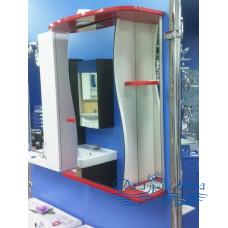 Зеркальный шкаф Sanflor Лина 55 L (красный)