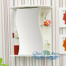 Зеркальный шкаф Sanflor Лина 55 R (белый)