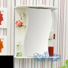 Зеркальный шкаф Sanflor Лина 55 R (черный)