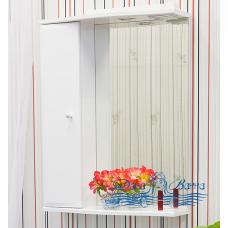 Зеркальный шкаф Sanflor Юна 55 L (белый)