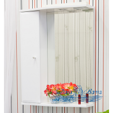 Зеркальный шкаф Sanflor Юна 65 L (белый)