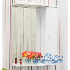 Зеркальный шкаф Sanflor Юна 65 R (белый)