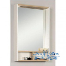 Зеркало Акватон Йорк 55 (белый/ясень фабрик)