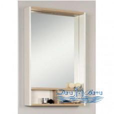 Зеркало Акватон Йорк 60 (белый глянец/дуб сонома)