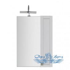 Зеркало Aquanet Честер 60 белый с серебрянной патиной (без светильника)