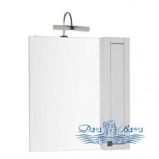 Зеркало Aquanet Честер 75 белый с серебрянной патиной (без светильника)