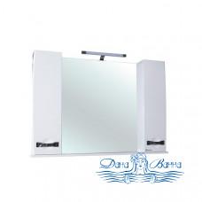 Зеркало Bellezza Абрис 120 (белый)