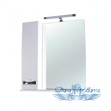 Зеркало Bellezza Абрис 80 L (белый)