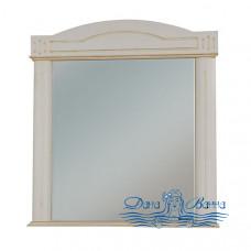 Зеркало Bellezza Аллегро Люкс 80 (бежевый, патина серебро)