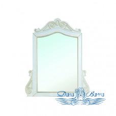 Зеркало Bellezza Аврора 115 (белый, патина золото)