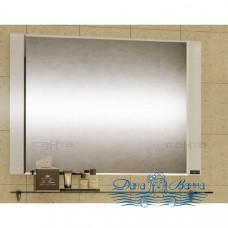 Зеркало СанТа Виктория (100 см) (фацет) со стеклянной полкой