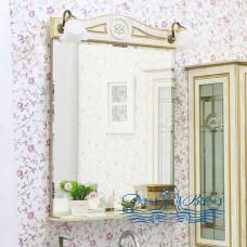 Зеркало Sanflor Адель 65 (белый/золото)