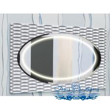 Зеркало Sanflor Белла 100 (белый/серебро)