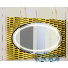 Зеркало Sanflor Белла 100 (шоколад/золото)